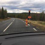 Vägarbeten pågår, kör försiktigt