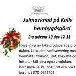 Julmarknad i Kall