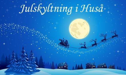 Julskyltning i Huså 19 november